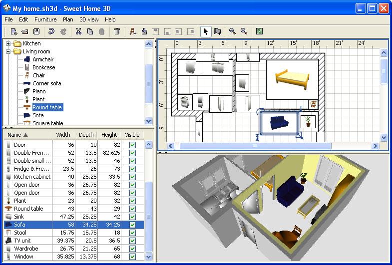 Zoek op internet naar 3D woning of woning tekenen en